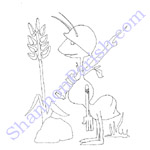 Army Ant - coloring page