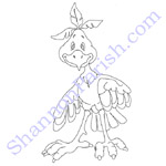 Goofy Bird - coloring page