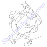 Buggy - coloring page
