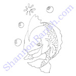 Goldfish - coloring page