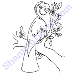 Parrot - coloring page