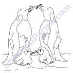 Penguins - coloring page - speaker presentation