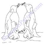 Penguins - coloring page - speaker presentation