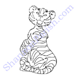 Tiger - coloring page