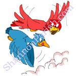 Two birds - mentoring cartoon