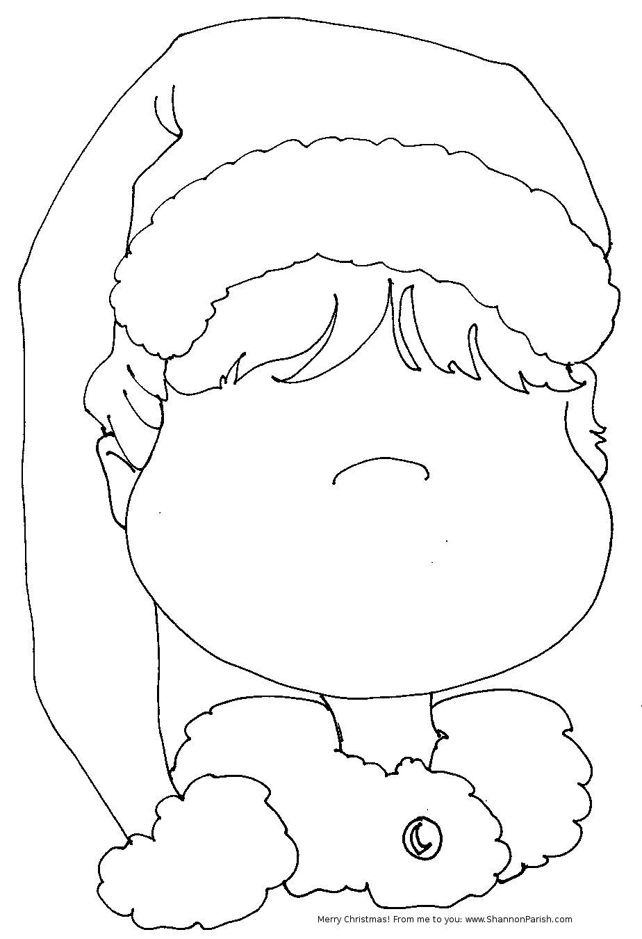 Free Santa Hat Stencil