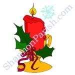 Christmas Candle - Holiday Greeting card