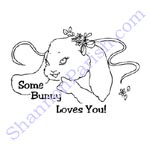 Bunny Love - Valentine's Day cards to color