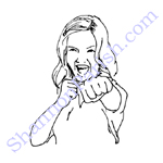 Girl in self defense pose - used for advertising flyer