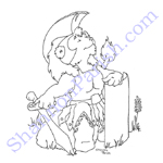 Seated lion in armor - baby shower gift
