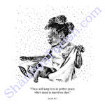 Peace - stippling print