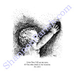 Reach - stippling print