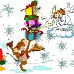 Christmas mouse and angel