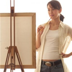 Artist at easel