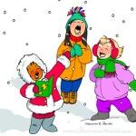 Singing Holiday Girls